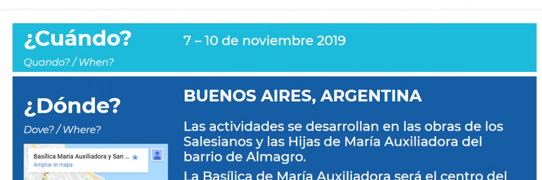Entrá en la página web del Congreso Internacional de María Auxiliadora
